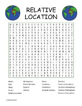 Relative Location Word Search Words Word Search Search