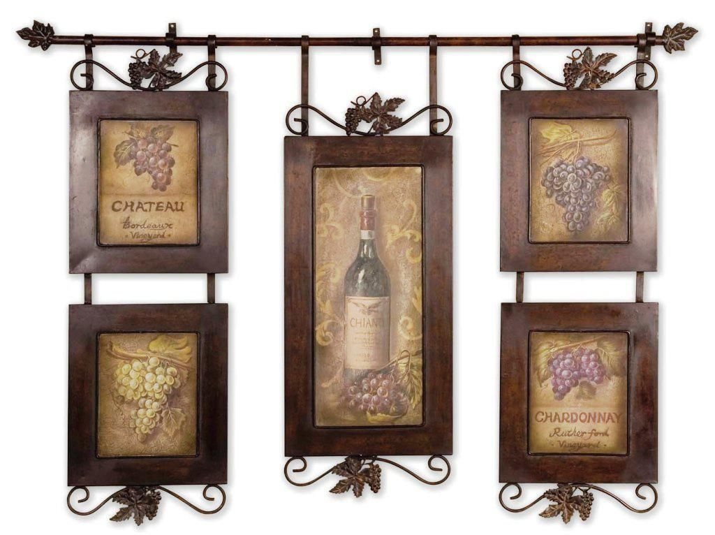 wine themed tuscan kitchen wall decor ideas | home decor | pinterest