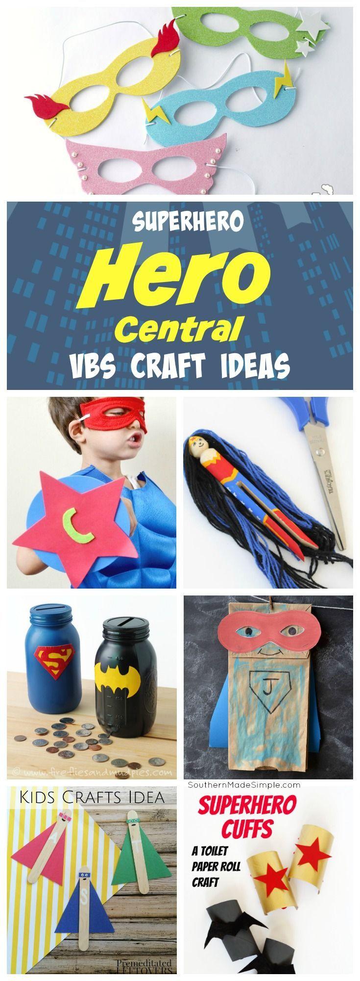 Superhero Craft Ideas - Hero Central VBS Theme - Southern Made Simple #superhero