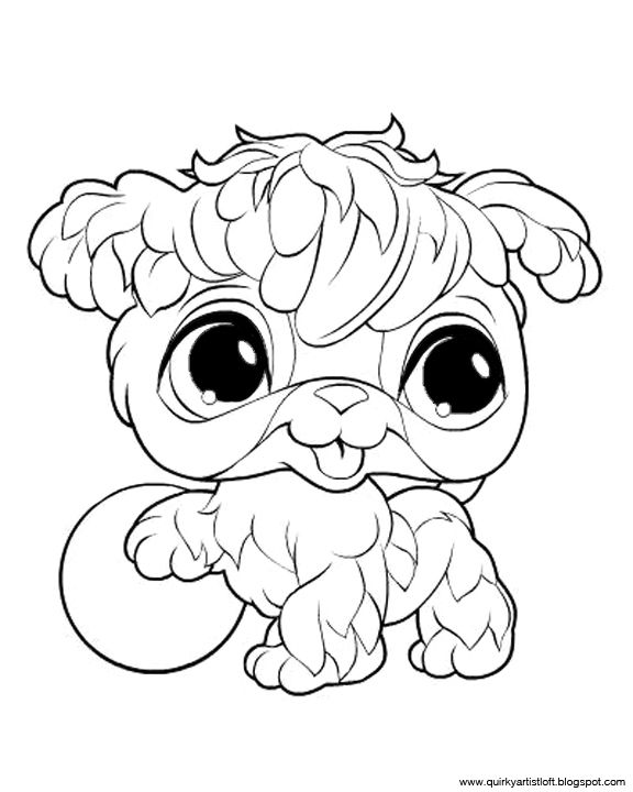 Quirky Artist Loft Littlest Pet Shop - Free Printable Coloring Book - best of coloring pages of littlest pet shop dogs