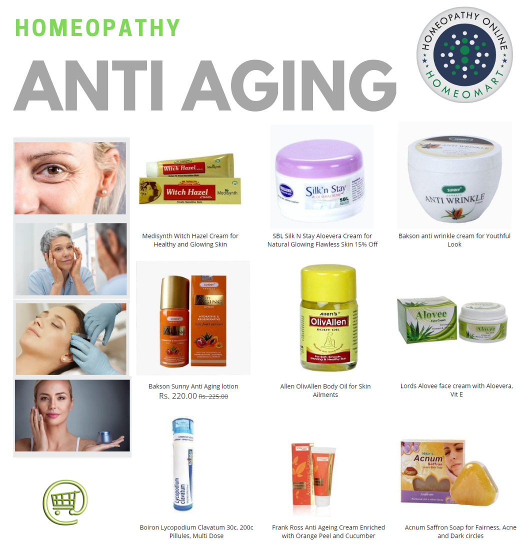 Homeopathic creams, oils, pills and gels for #wrinkles, fine