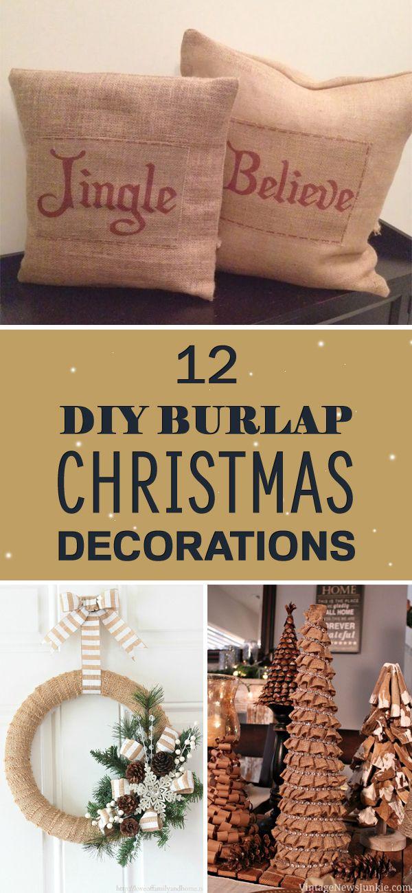 decorations decor pin christmas ideas burlap top decoration