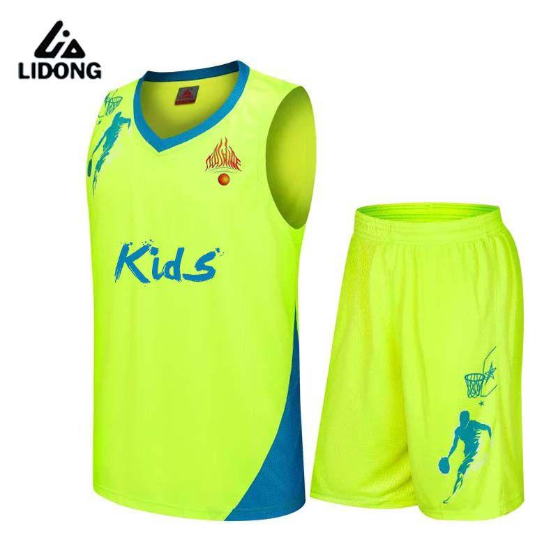 83fe6e9d0bb Kids basketball jerseys Boys breathable custom basketball uniforms boys  cheap DIY school basketball training suits set 2017 new