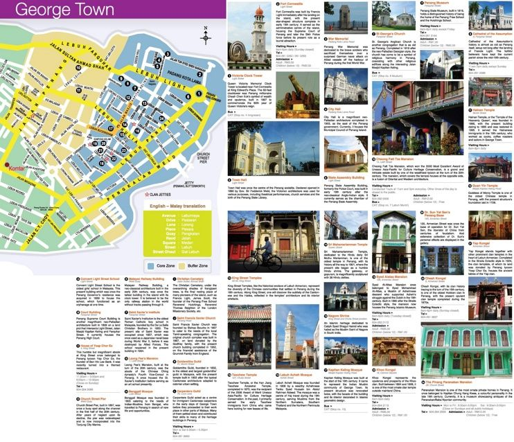George Town sightseeing map Maps Pinterest George town