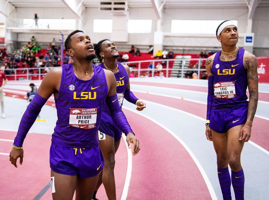 Lsu Track Field On Instagram Iron Sharpens Iron In 2020 Lsu Lsu Track And Field Track And Field