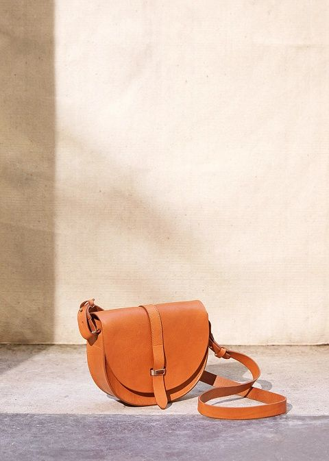 Sézane Claude Messenger Bag | Bags, Vegetable tanned