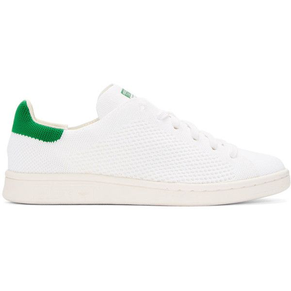 6874a878c393 adidas Originals White and Green Stan Smith OG PK Sneakers ( 110) ❤ liked  on Polyvore featuring shoes