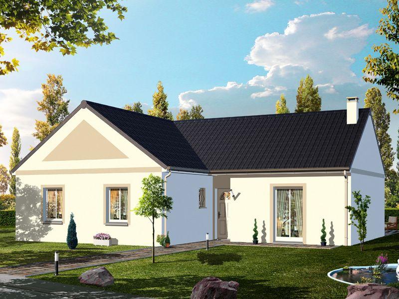 Mod le hegoa pavillon plain pied avec garage comprenant for Modele de cuisine ouverte sur le sejour
