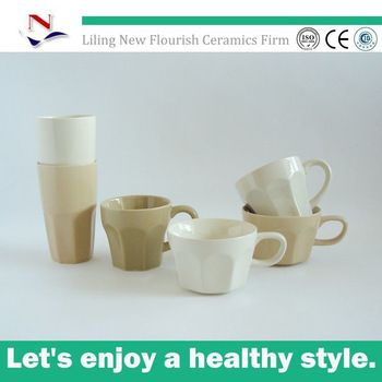 Uk Style Stoneware Coffee Mug Diffe Shapes Without Handle N0007