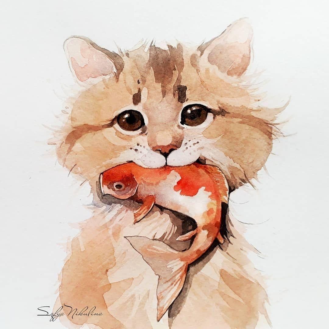 See more @ https://watercolorpainting.com #watercolor #watercolorpainting  #watercolor_art…   Illustration art drawing, Illustration art watercolor,  Animal paintings