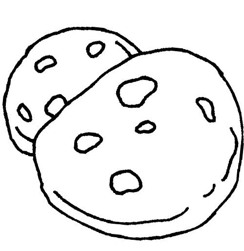 The Big Chocolate Chip Cookie Coloring Page Big Chocolate Big