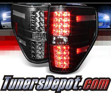 Sonar Led Tail Lights Black 09 14 Ford F 150 F150 Ford F150 Led Tail Lights F150