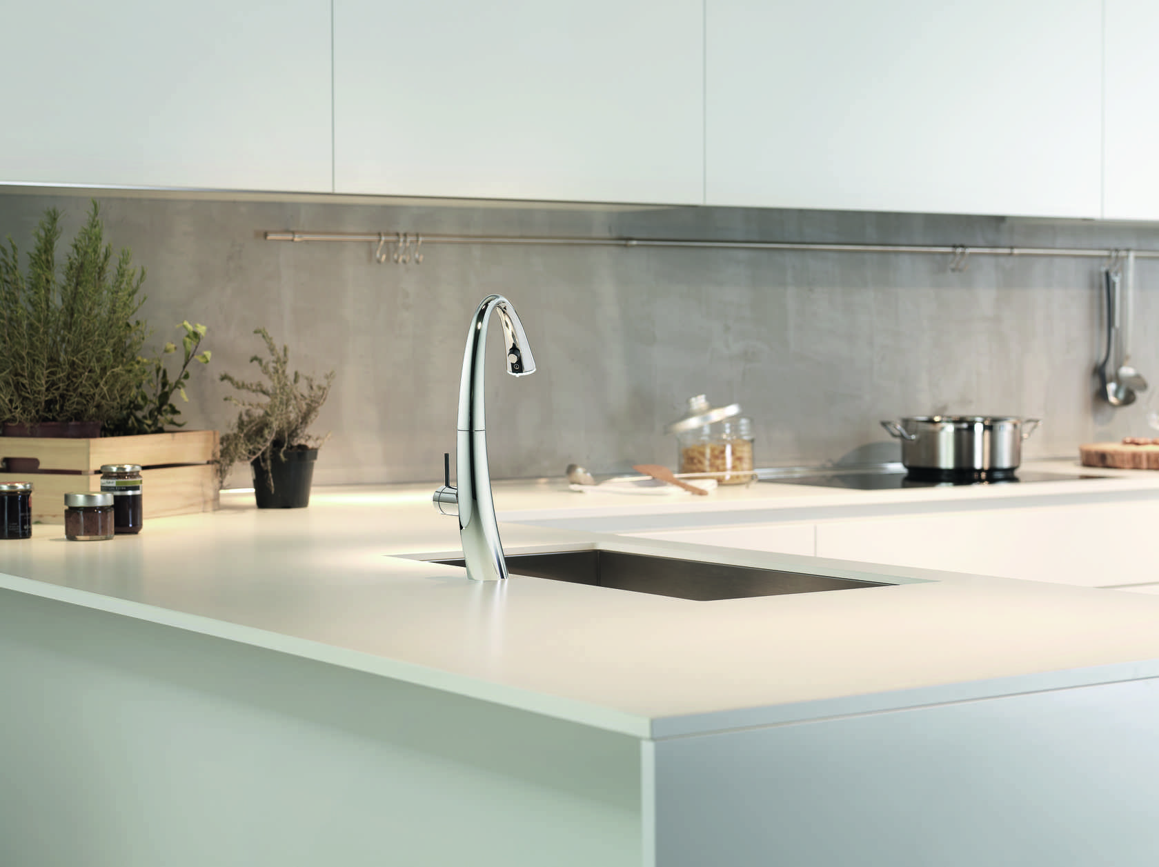 KWC ZOE touch light PRO is a faucet controlled using smart ...