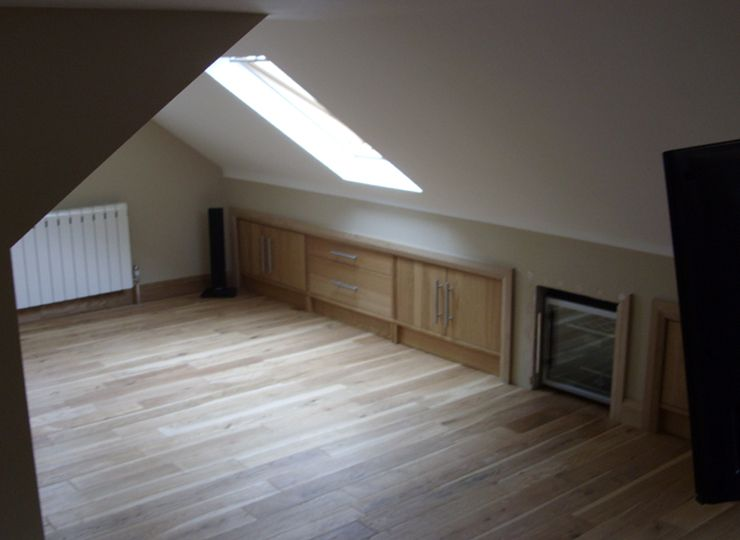 Small Loft Conversion With Built In Eaves Storage Food For