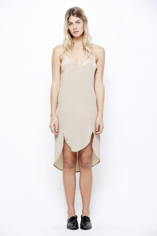 RHODES SLIP DRESS at LNA Clothing