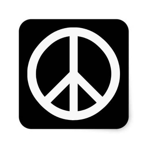 Peace Symbol Vinyl Sticker decal BLACK GLOSS 8 x 8cm