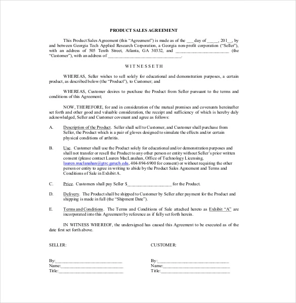 10+ Free Sales Contract Templates Professional Formats