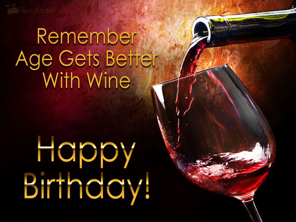 happy birthday wine gif men Age Gets Better With Wine