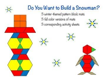 Winter Pattern Blocks Pattern Blocks Pattern Blocks Activities