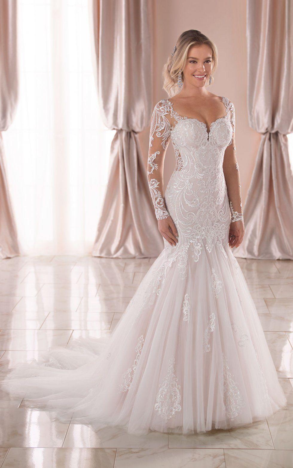 Long Sleeved Lace Trumpet Wedding Dress Stella York Wedding Dresses Trumpet Wedding Dress Lace Drop Waist Wedding Dress Trumpet Wedding Dress [ 1563 x 980 Pixel ]