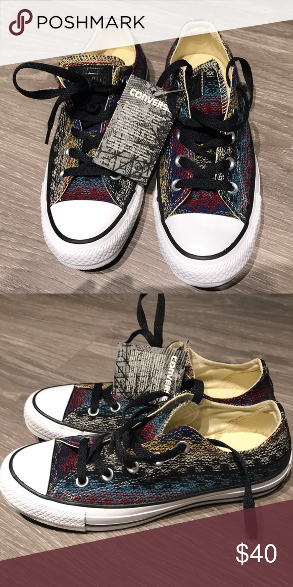 8d5ffb431b3a37 Converse! New with tags! New! Aztec print Converse Shoes Sneakers