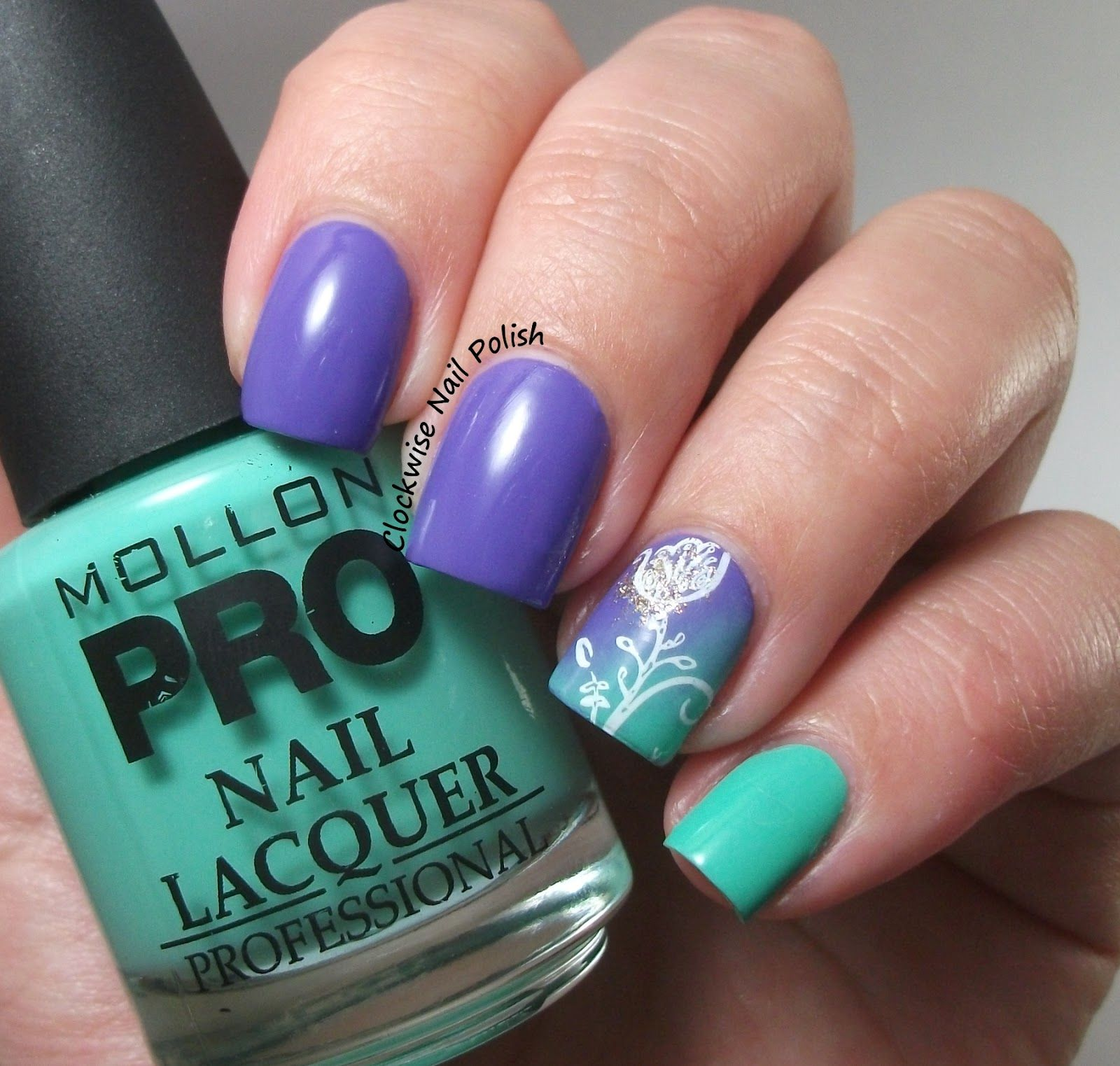 The Clockwise Nail Polish: Mollon Pro 188 Delicious & 193 Sparkle