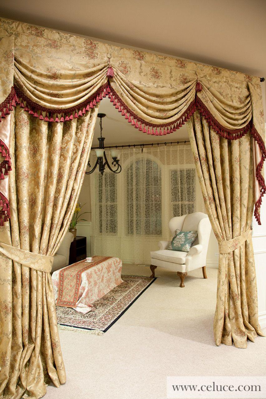 picture of versailles rose classic austrian swag style bettw sche gardinen vorh nge und. Black Bedroom Furniture Sets. Home Design Ideas