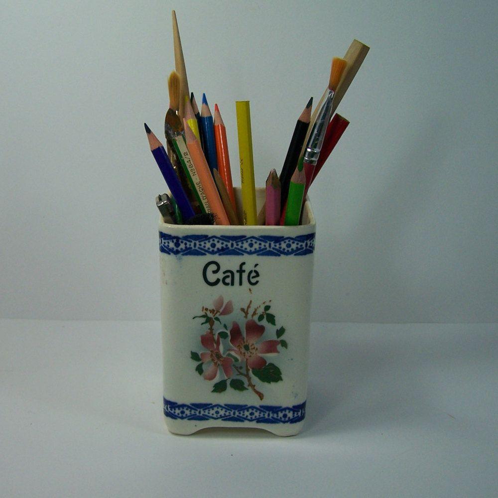 Ranger Ses Ustensiles De Cuisine pot à crayons pot de café en faïence pour ranger ses crayons