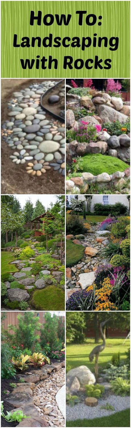 How To: Landscaping with Rocks via @1001Gardens