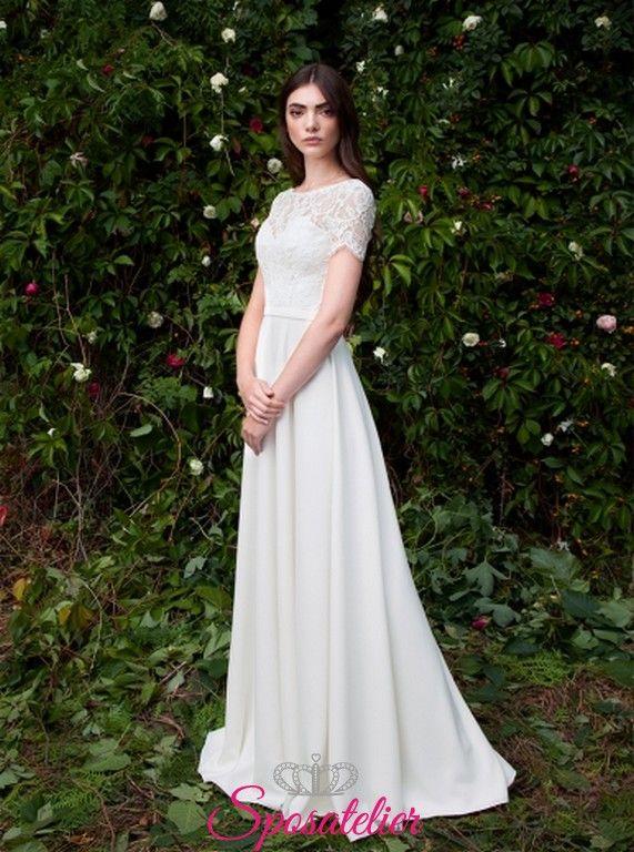 a1334c641fb8 Modica- abiti da sposa semplici con maniche corte acquisto onlineSposatelier