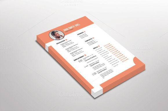 Pinkish Resume Template Design @CleanResume Resume Download