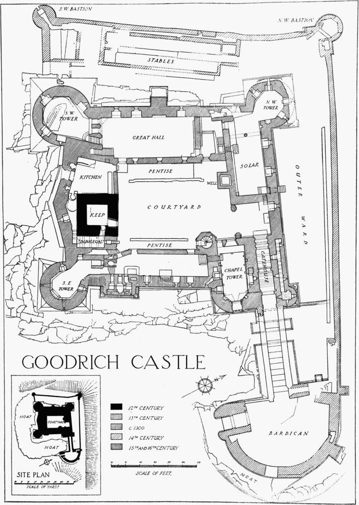 Goodrich British History Online Castle Layout Castle Floor Plan Castle Plans