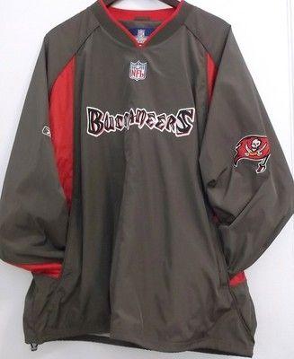Tampa Bay Buccaneers XL V-Neck Pullover Jacket NFL Reebok Warmup Windbreaker 96baef1fb