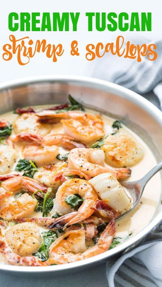 Photo of Creamy Tuscan Shrimp and Scallops