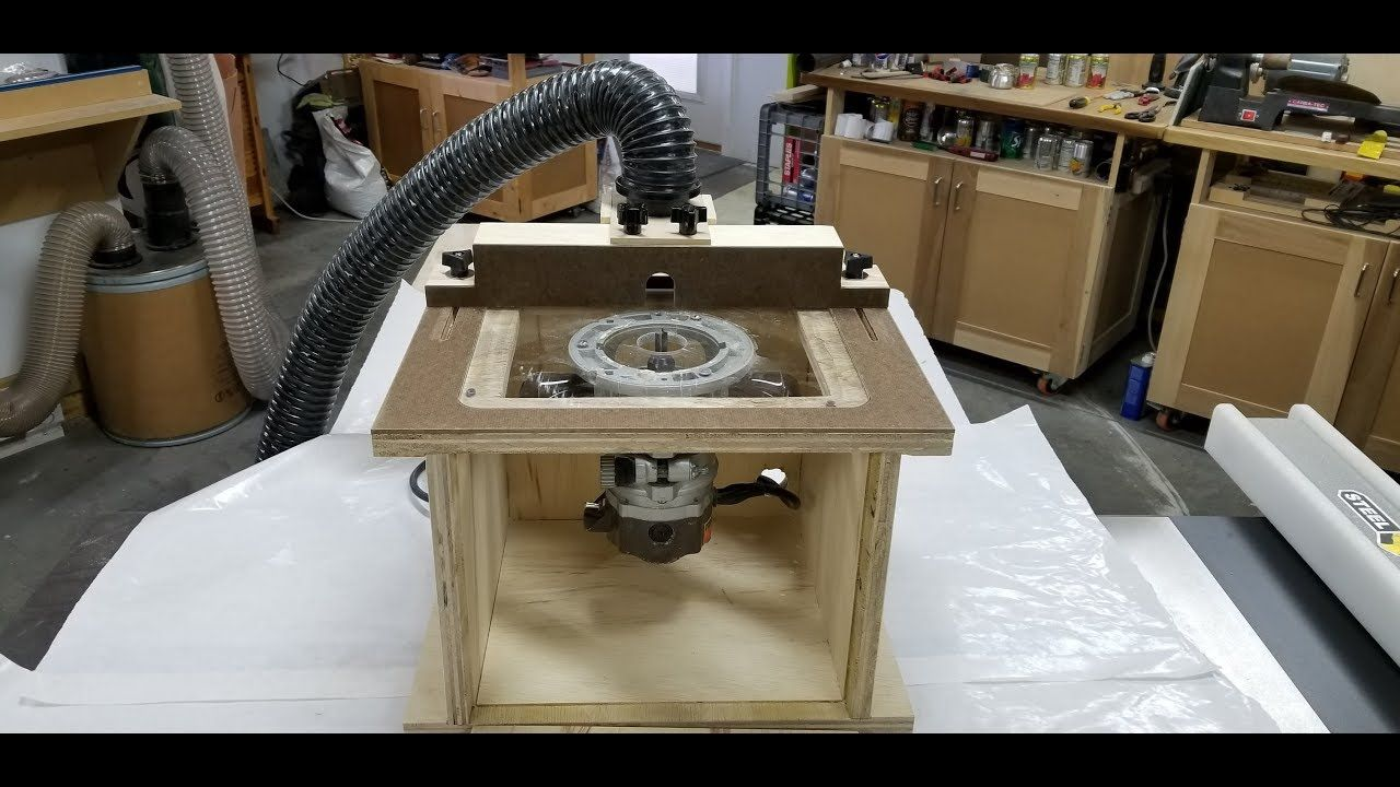 benchtop router table diy youtube woodworking router table rh pinterest com