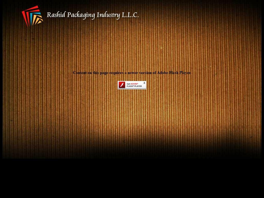 Rashid Packaging Industry, Llc 1/2, 32 Street G Floor Ajman