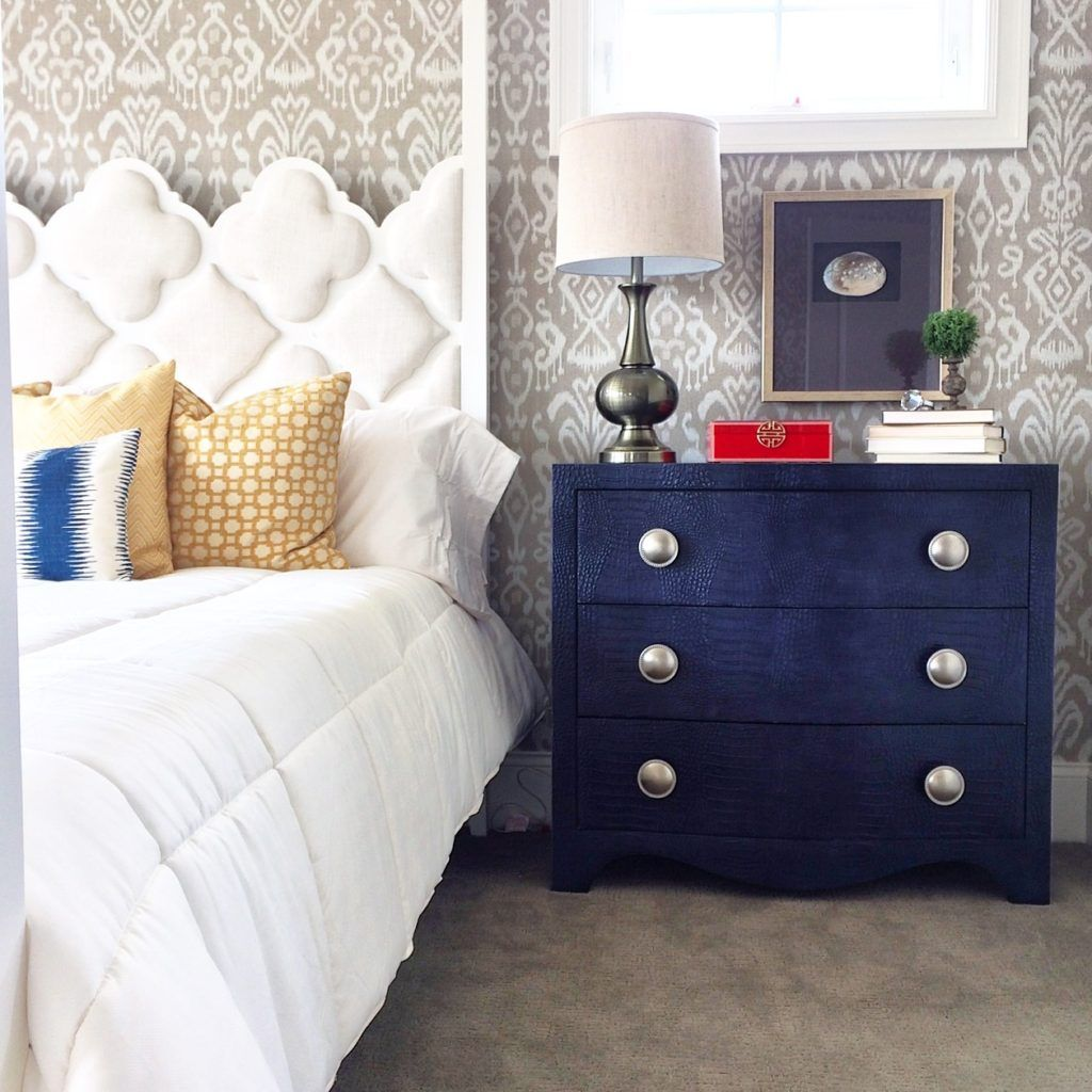 Navy Blue Faux Crocodile Bachelors Chest Furniture Accent Home Decor Navy Bedroom Furniture Trends Blue Bedroom Blue Bedroom Furniture Home Decor Trends