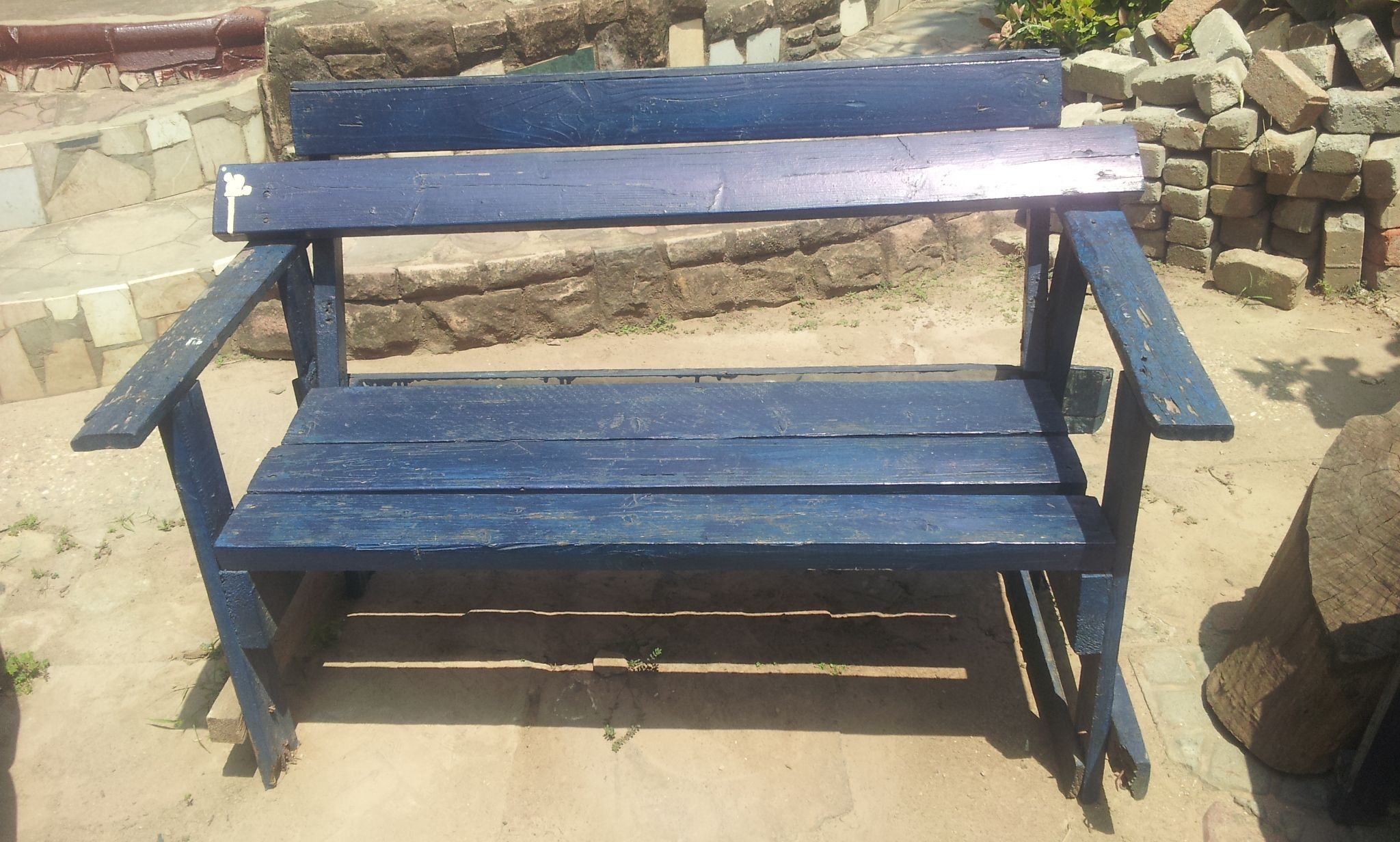 The Wheel Story In Accra Ghana Transforms Cable Wheels Into Upcycled Materials Like Tables Chairs And Benches Here S O Outdoor Decor Bench Outdoor Furniture