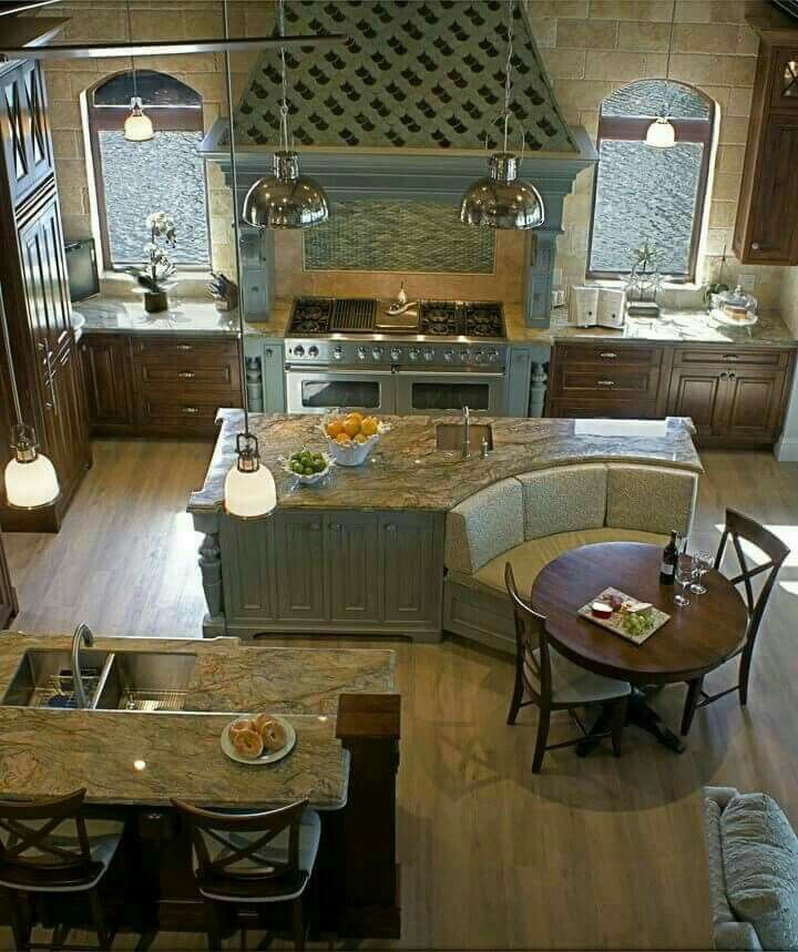 43 Extremely Creative Small Kitchen Design Ideas: Double Island Kitchen! With Seating