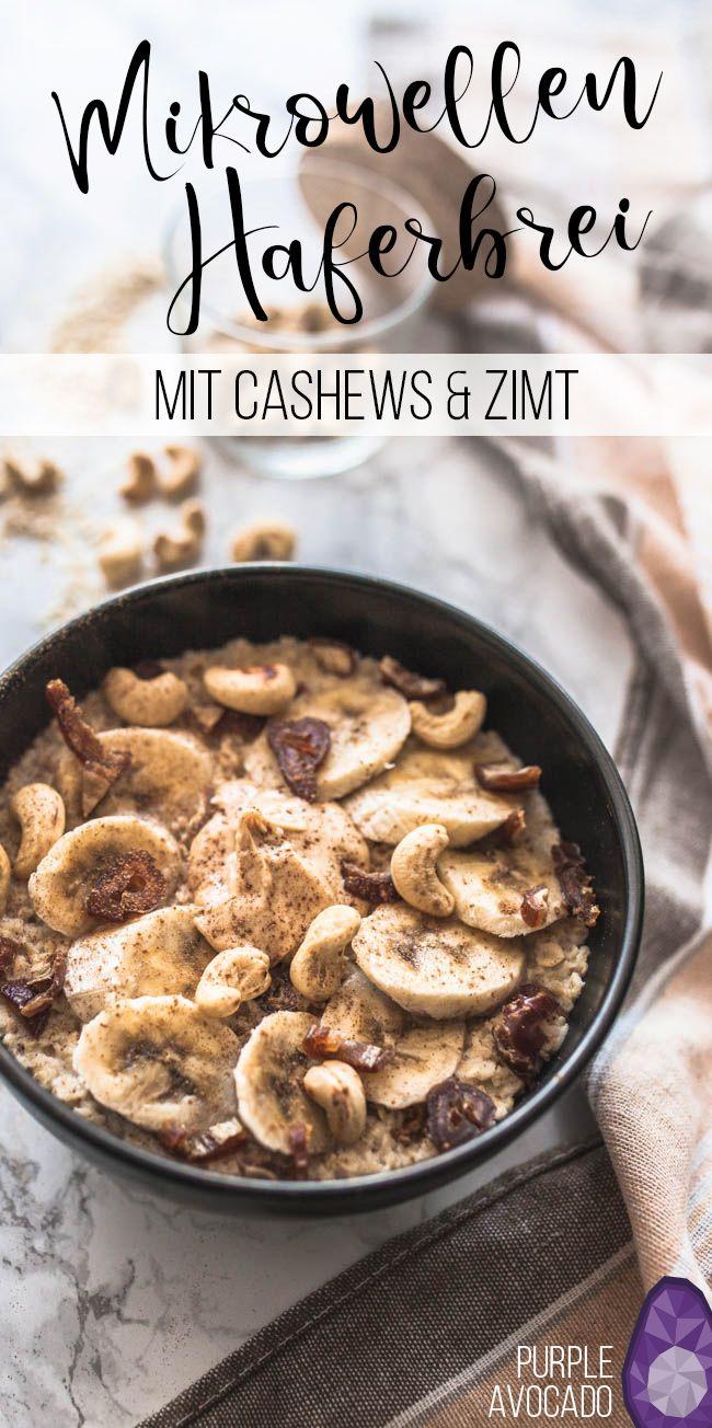 Cashew-Zimt Porridge aus der Mikrowelle #frühstückundbrunch