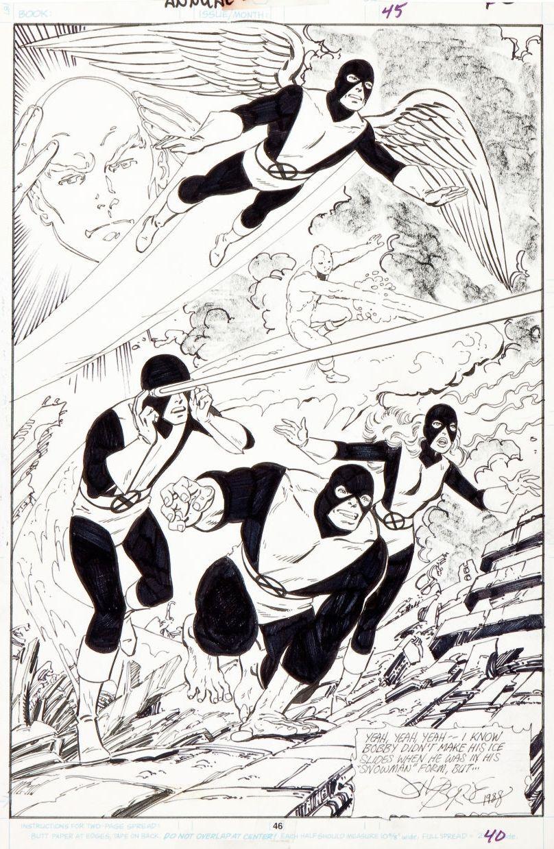 X Factor Annual N 3 P 46 By John Byrne 1988 Superhero Coloring Comic Books Art John Byrne