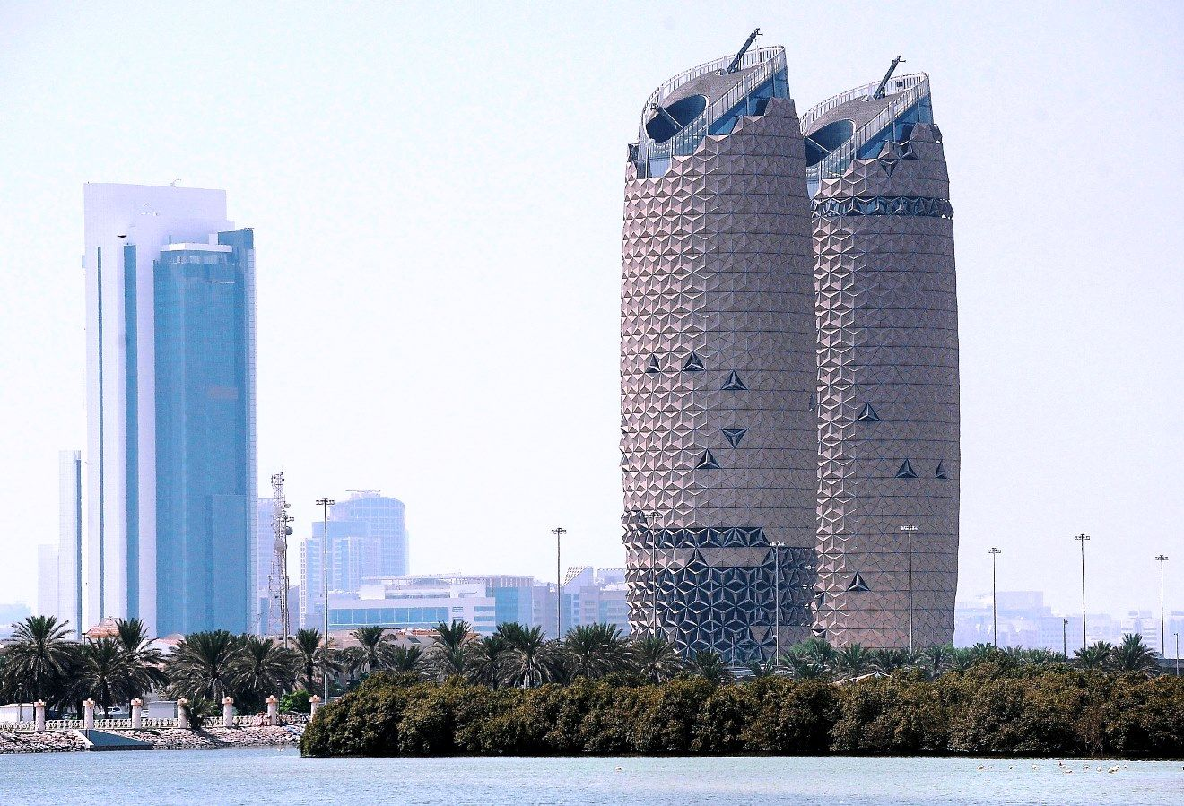 Torres Al Bahar, Abu Dhabi, Emiratos Arabes Unidos.