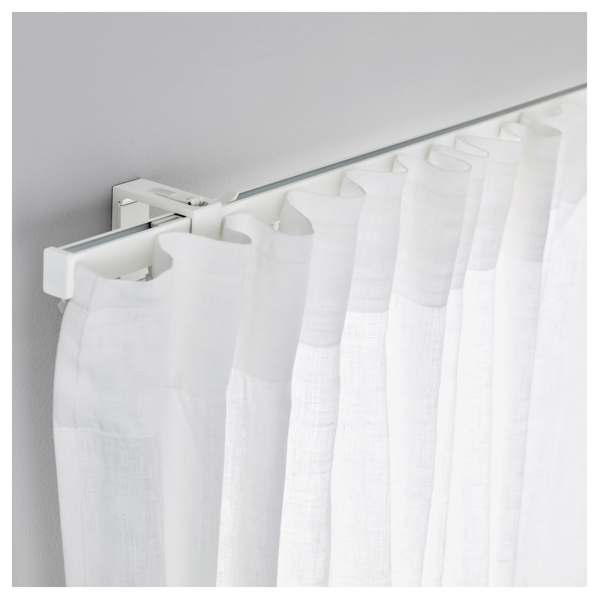 Ikea Perth Curtains Vidga Single Track Rail White In 2019 Downtown Curtain Track