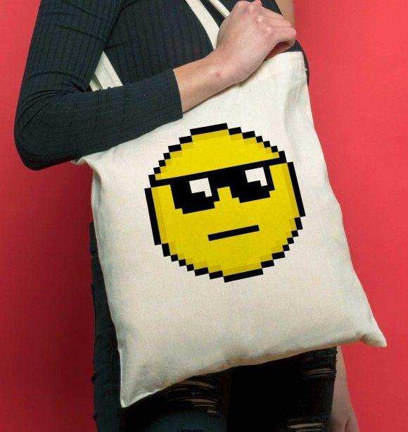 Tote Bag Smiley Soleil Sac Smiley Lunettes De Soleil Smiley