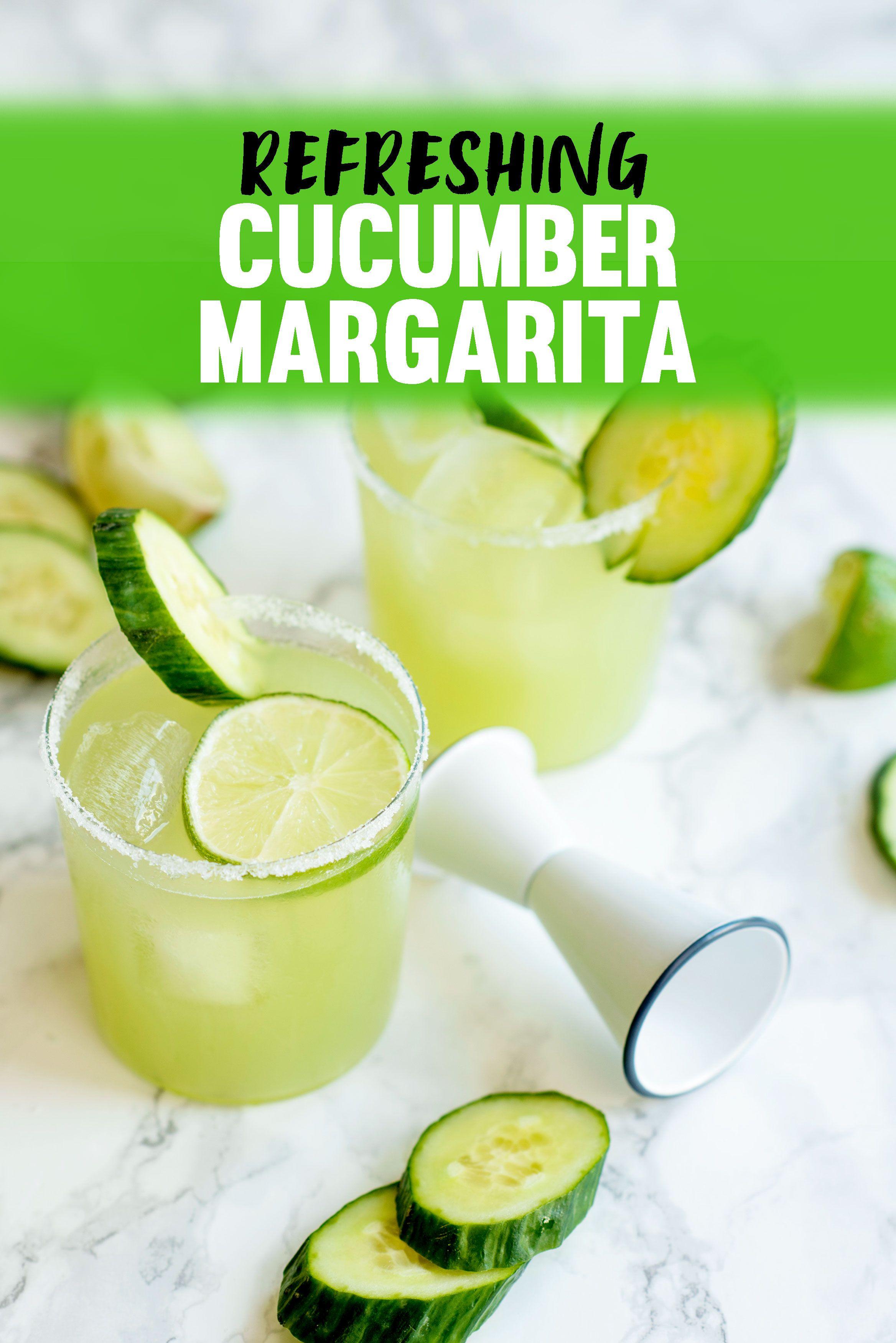Refreshing Cucumber Margarita Recipe - A Side of Sweet