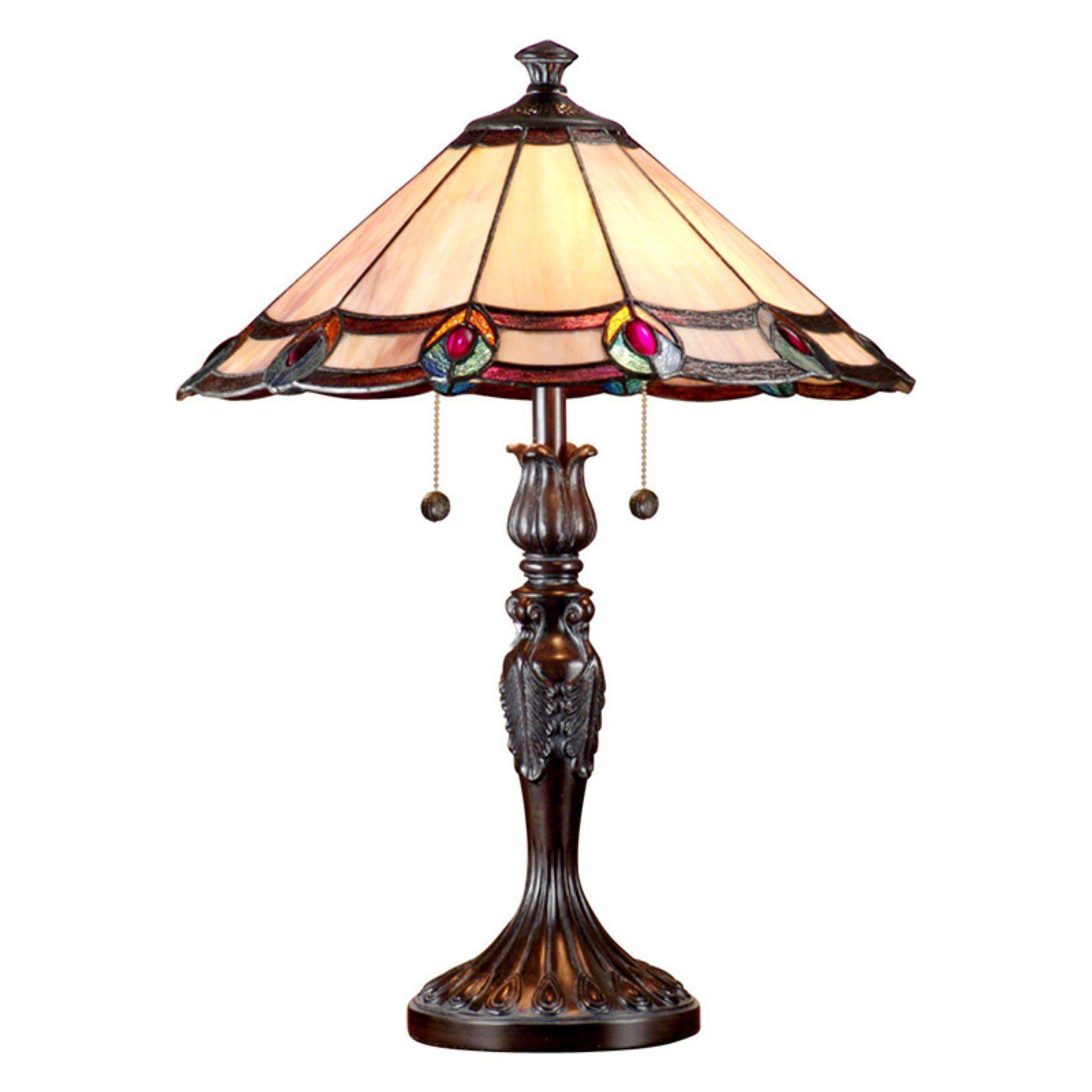 Springdale Lighting Aldridge Peacock Table Lamp Art