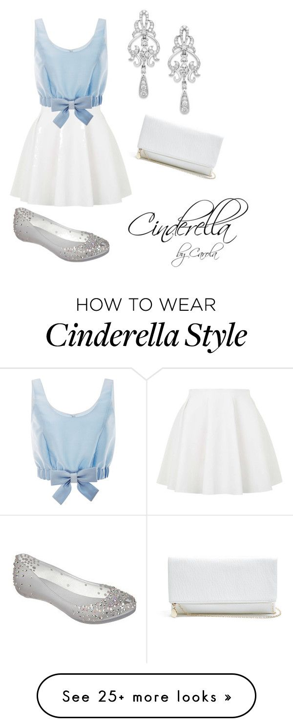 """""""Cinderella inspired Outfit"""" by carolapalma on Polyvore featuring Topshop, Honor, Melissa, Wrapped In Love and GUESS"""
