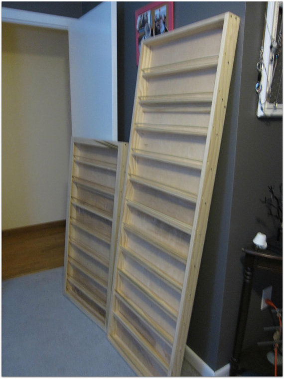 Personalized CUSTOM Wall Mounted Nail Polish Rack Essential Oils Display  Storage