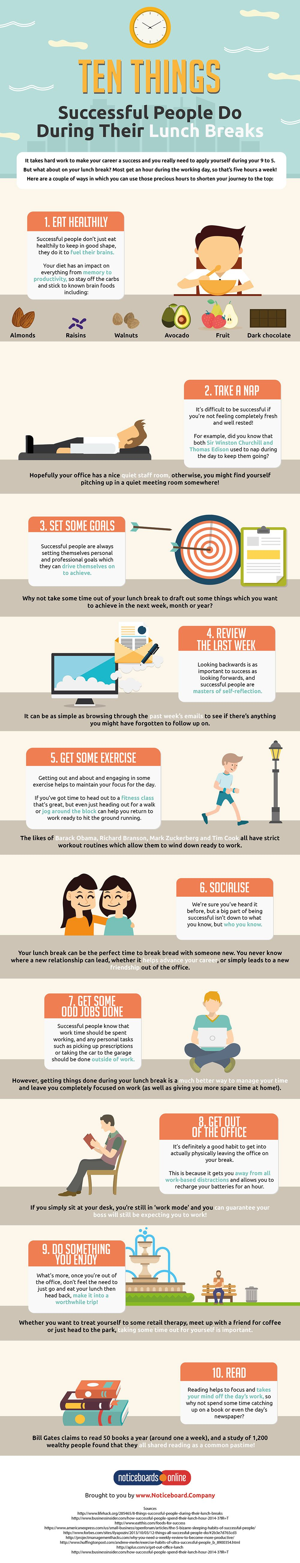 Ten Things Successful People Do During Their Lunch Breaks #Infographic