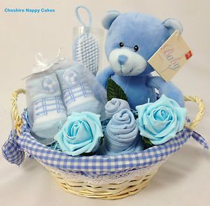 Baby Gift Hamper// Basket Boy.Baby Hamper Boy.Baby Shower Boy Gift.Nappy Cake Boy